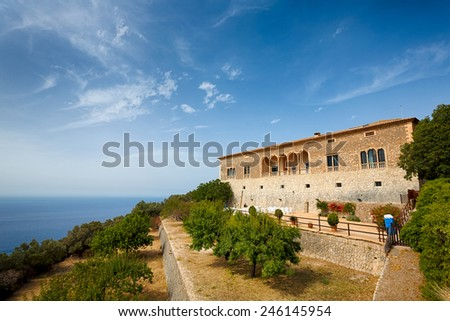 House of Son Marroig, Mallorca, The Balearic Islands, Spain - stock photo