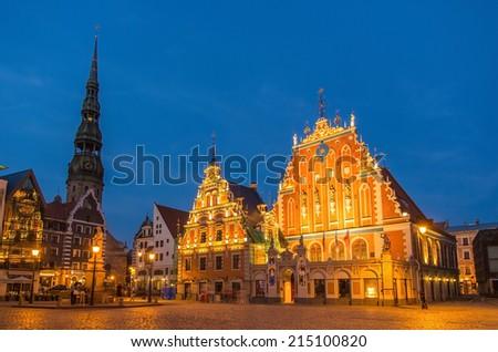House of the Blackheads in Riga, Latvia - stock photo