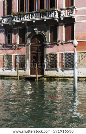 House of venice grand canal with boot