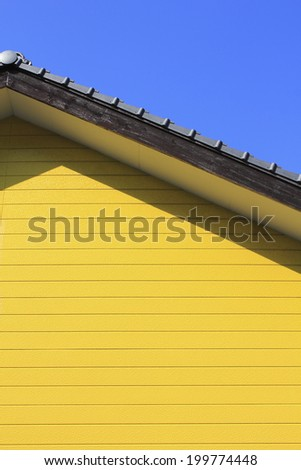 House Of Yellow Wall - stock photo