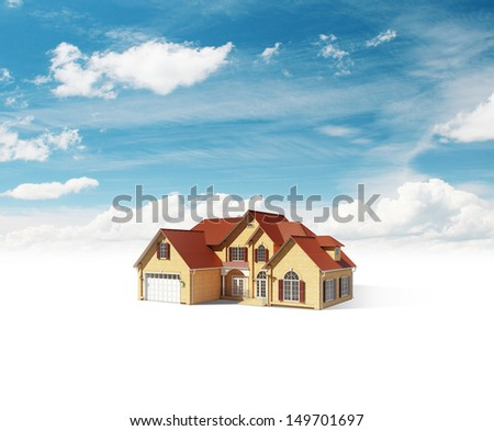 house on beautiful nature background