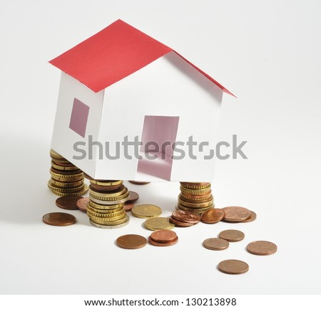 House on coins.