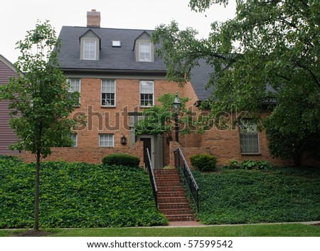 House on Ivy Hill - stock photo