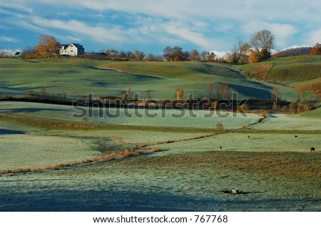 House on the Hill - stock photo