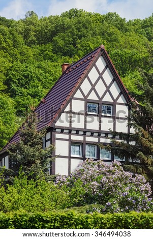 House on the Hillside - stock photo
