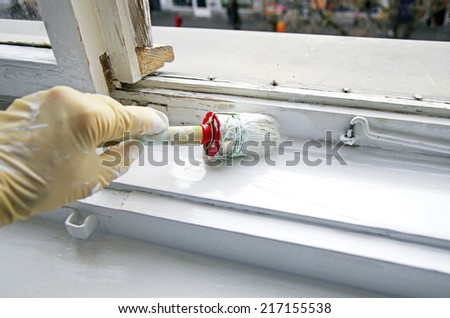 house painter - stock photo