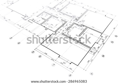 Architectural Drawing Blueprint house plan blueprint architectural drawing part stock photo