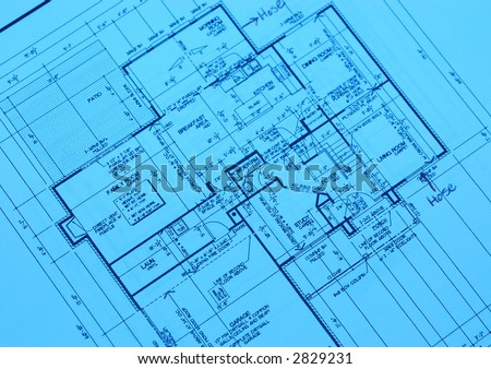 house plan blueprints from a new housing development