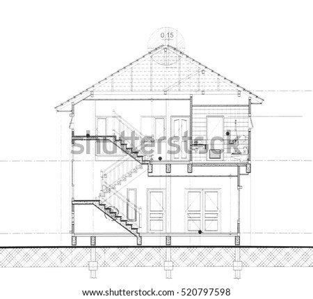 House plan - Section cut