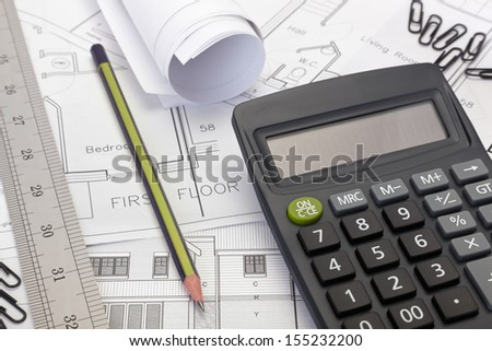 Estimating stock images royalty free images vectors for House plan calculator