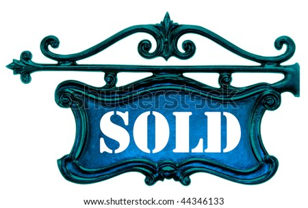 House Plate on white - stock photo