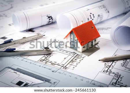 house project  - stock photo