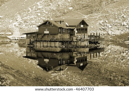 house reflection - stock photo