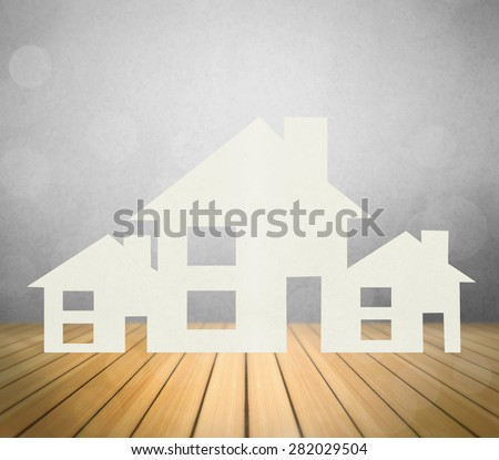 house representing home ownership and the Real Estate business  - stock photo