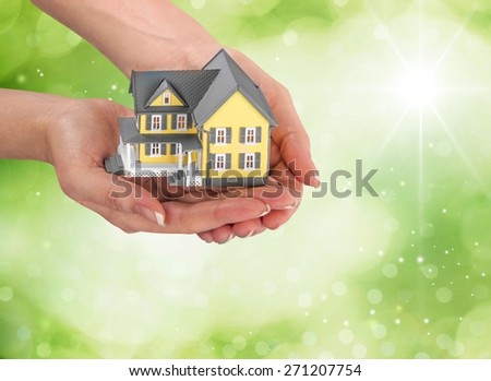 House, Residential Structure, Real Estate. - stock photo