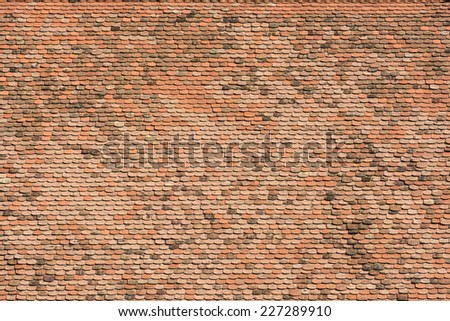 House Roof Tiles Background Texture - stock photo