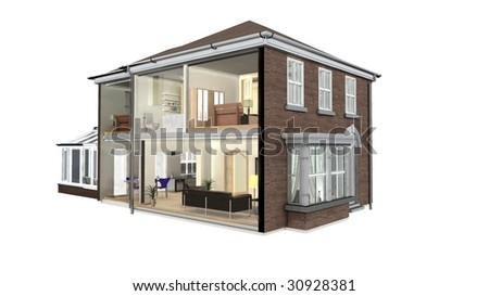 House section - stock photo