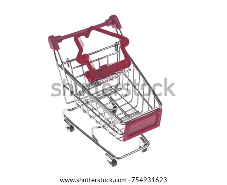 house shape inside of the shopping cart