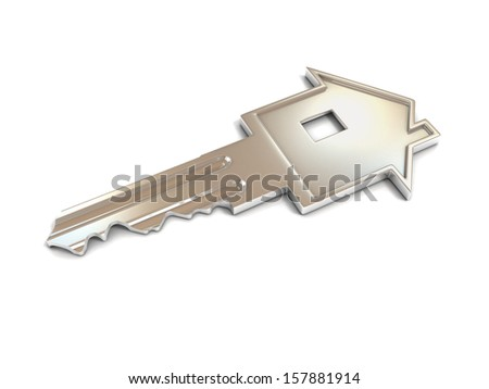 house shape key 3d illustration