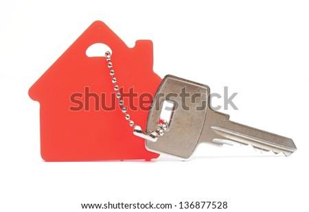 House shaped key chain - stock photo