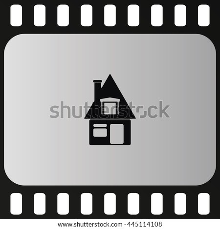 House sign. Flat icon. - stock photo