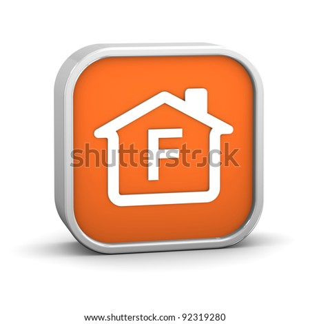 House Sign with F energy performance classification - stock photo