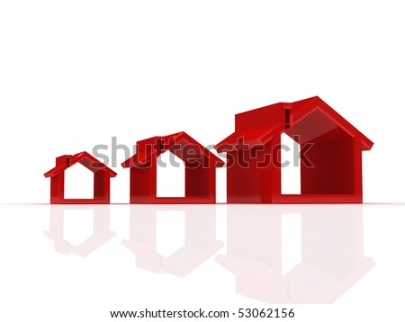 house silhouettes - stock photo