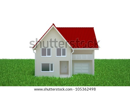 house stands on a green lawn
