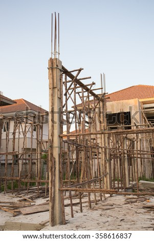 house structure at construction site