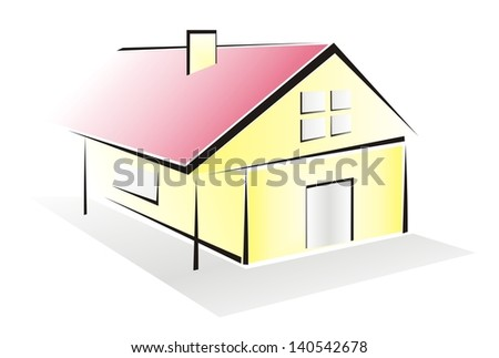 house-symbol - stock photo
