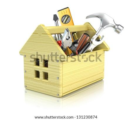 House toolbox - stock photo