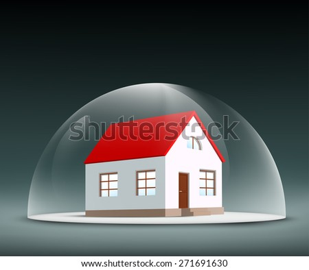 House under the dome - stock photo