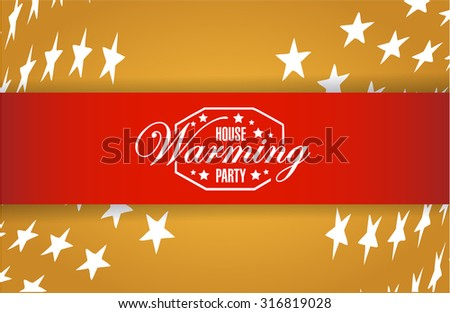 house warming party stars background sign illustration design graphic - stock photo