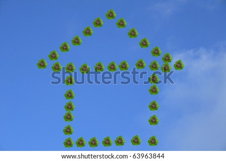 house with good luck - stock photo