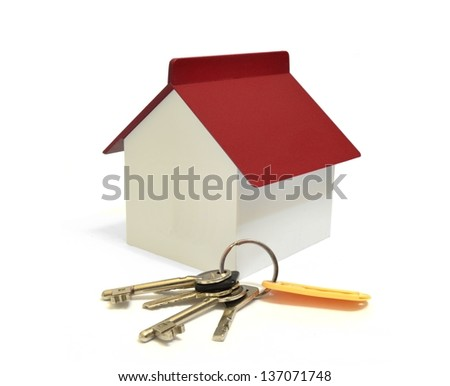 House with keys, home ownership concept - stock photo