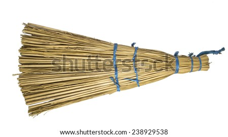 Household broom for cleaning of industrial premises and apartments. - stock photo