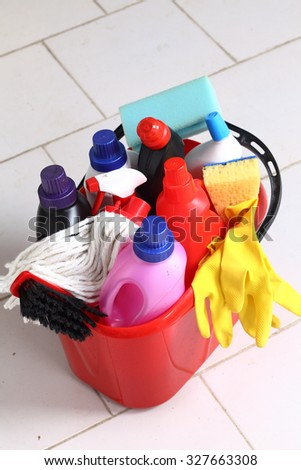 Household chemical goods for cleaning