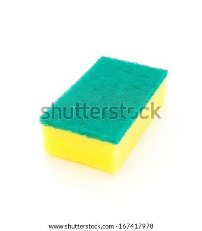 household cleaning sponge  - stock photo