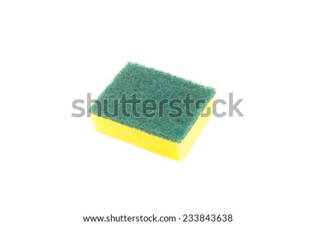 household cleaning sponge for cleaning - stock photo