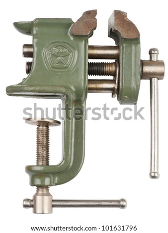 Household desktop vice on a white background