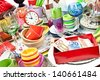Household - fleamarket - stock photo