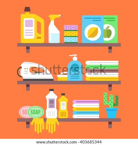 Cleaning service flat illustration creative modern stock for Modern cleaning concept
