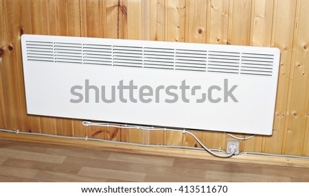 stock photo household wall mounted electric heater wooden house convector heaters uk amazon