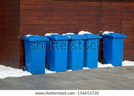 Household waste containers - stock photo