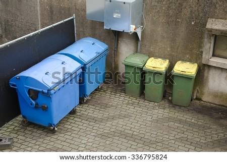 Household waste waiting to be taken away - stock photo