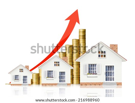 houseing price go up  - stock photo