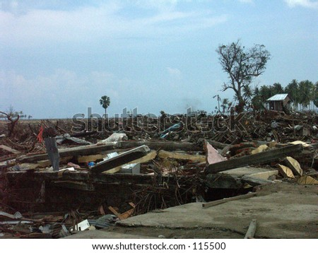 Houses after Tsunami in Aceh Indonesia