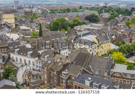 Houses and buildings in medieval town of Maastricht