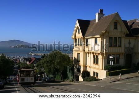 Houses at San Francisco, USA - stock photo