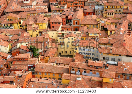 Houses in Bologna  Italy - stock photo